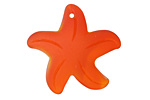 Tangerine Recycled Glass Starfish 32mm