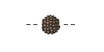 Greek Bronze (plated) Studded Spacer Bead 11mm