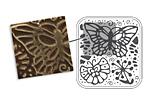 """Vintaj DecoEmboss Die Butterfly Swirls 2 3/8""""x2 5/8"""""""