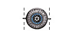 Storm Mix Vintage Style Pave CZ Gunmetal (plated) Coin Focal Link 20x15mm