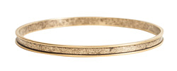 Nunn Design Antique Gold (plated) 3mm Channel Bangle Bracelet 70mm