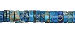 Turquoise Impression Jasper Heishi 7-8mm