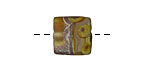 A Beaded Gift Olive Desert Trails Glass Square 12-13mm