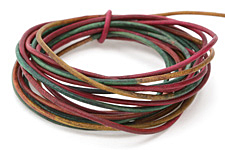 Natural Tourmaline Leather Cord 1.5mm