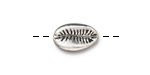 TierraCast Antique Silver (plated) Cowrie Shell Bead 14x9mm