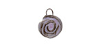 Gaea Ceramic Purple Haze Rose Charm 11-12x15-16mm