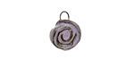 Gaea Ceramic Purple Haze Rose Charm 11-12x15-16mm