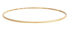 Nunn Design Antique Gold (plated) Small Dome Bangle Bracelet 70mm