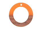 Wood & Tangerine Resin Ring Focal 28mm