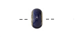 A Beaded Gift Silvered Midnight Blue Glass Rondelle (large hole) 7-8x14-15mm