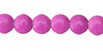 Magenta Magnesite Irregular Puff Coin 10mm