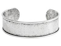 "Nunn Design Antique Silver (plated) 3/4"" Channel Cuff Bracelet 65mm"