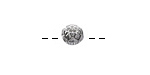 Antique Silver (plated) Blooming Lotus Bead 6x8mm