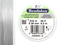 "Beadalon Satin Silver .015"" 7 Strand Wire 30ft."