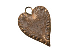 Gaea Ceramic Cream on Chocolate Tough Love Pendant 20x30mm
