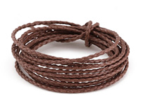 Coffee Braided Cotton Bolo Cord 2mm