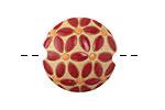 Golem Studio Red Leaves Carved Ceramic Lentil 23mm