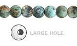 African Turquoise (Matte) Round (Large Hole) 8mm