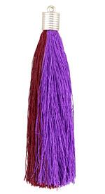 Plum Thread Tassel w/ Metallic Gold Plastic Tassel Cap 101mm