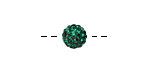 Emerald Pave (w/ Preciosa Crystals) Round 8mm