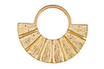 Zola Elements Matte Gold (plated) Fanned U Focal 34x28mm