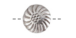 Antique Silver (plated) Chrysanthemum Button 13mm