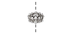 Zola Elements Antique Silver (plated) Blooming Lotus 12x8mm