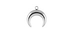 Stainless Steel Crescent Focal 14x15mm
