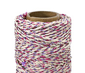 Natural & Metallic Purple Hemp Twine 20 lb, 205 ft