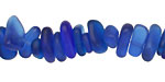 Royal Blue Recycled Glass Pebble 2-4x7-12mm