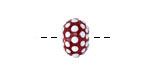Grace Lampwork Polka Dots on Burgundy Rondelle 9x14mm