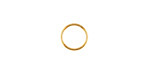 Gold (plated) Soldered Jump Ring 8mm, 18 gauge