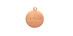 "Copper ""Dream"" Round Charm 13x15mm"
