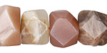 Moonstone (multi) Faceted Nugget 14-15x18-19mm