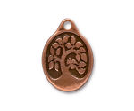 TierraCast Antique Copper (plated) Bird In A Tree Drop 18x26mm
