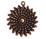 Nunn Design Antique Copper (plated) Large Daisy Pendant 35x39mm