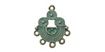 Zola Elements Patina Green Brass (plated) Floral Rainbow Chandelier 18x22mm
