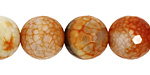 Amber Fire Agate Faceted Round 14mm