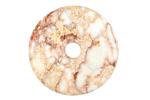 White Impression Jasper Donut 30mm