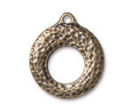 TierraCast Antique Brass (plated) Artisan Toggle Ring 27x30mm