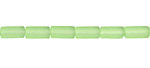 Peridot Recycled Glass Tube 8x4mm