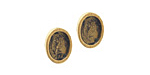 Nunn Design Antique Gold (plated) Itsy Oval Earring Post 6x8mm