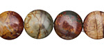 Red Creek Jasper Puff Coin 14mm