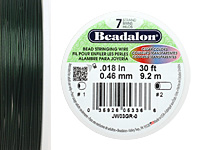 "Beadalon Green .018"" 7 Strand Wire 30ft."