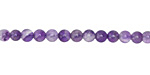 Dogtooth Amethyst Round 4mm