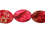 Ruby Impression Jasper Flat Oval 20x15mm