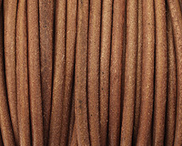 Natural Light Brown Round Leather Cord 4mm
