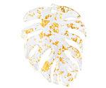Gold Foil Acetate Monstera Leaf Focal 32x40mm