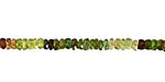 Green Tourmaline Irregular Faceted Rondelle 3.5-4mm
