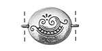 Zola Elements Antique Silver (plated) Doodle Tattoo Oval 29x19mm